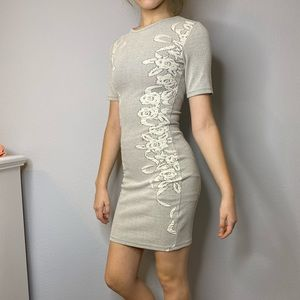 French Connection Body Con Gray Dress